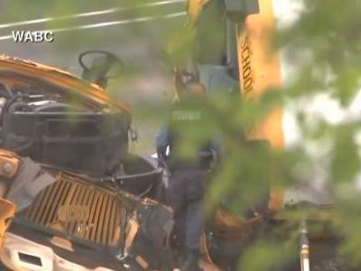 Multiple injuries reported after dump truck, school bus collide on New Jersey highway