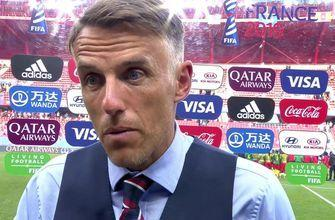 2019 FIFA Women's World Cup™: England coach Phil Neville reacts to Cameroon's actions in the Round of 16