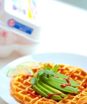 Scrambled Egg Waffles
