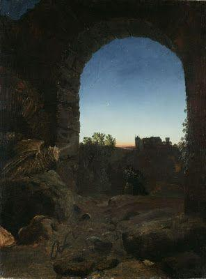 Carl Blechen, Romantic Landscape with Ruin