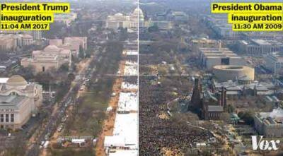Trump furious over sparse inaugural crowds, beats up media
