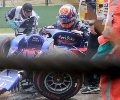 Alexander Albon survives stunning crash in Chinese practice