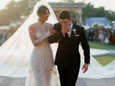 Priyanka and Nick Christian wedding clothes: Gown with 24 lakh mother pearls and Ralph Lauren tuxedo
