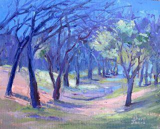 Dancing Tree Line, New Contemporary Landscape Painting by Sheri Jones