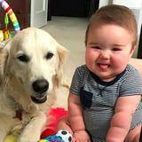 10 Photos of Babies and Golden Retrievers That Will Bring a Smile to Your Face in 3, 2, 1