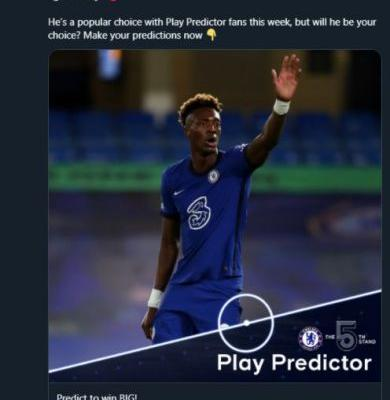 Photo: Chelsea delete unfortunate Tammy Abraham tweet after he's dropped from squad to face Man City