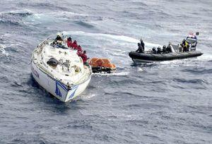 Royal Navy rescues 14 crew from stricken yacht in Atlantic