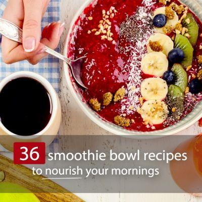 36 Beautiful Smoothie Bowl Recipes To Nourish Your Mornings