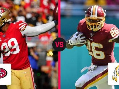 What channel is 49ers vs. Redskins today? Schedule, time for Week 7 NFL game
