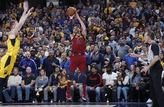Cavaliers win 104-100 at Indiana to even series at 2