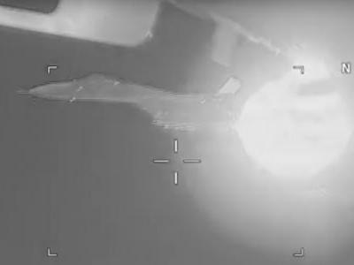 Russian Su-27 fighter captured blasting jets in dangerous intercept 5 feet from a US Navy plane