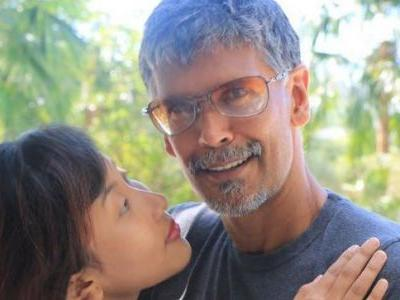 Milind Soman and Ankita Konwar's surreal photoshoot is going viral. See pic