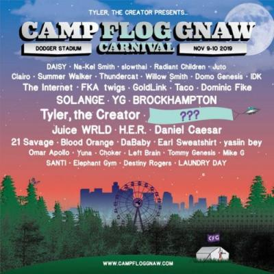 Tyler, The Creator Reveals Camp Flog Gnaw 2019 Lineup With Mystery Headliner