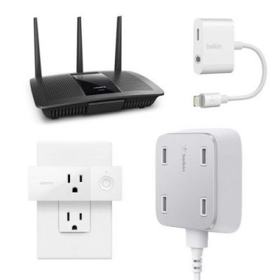 Stay connected with up to 50% off select Belkin, Linksys, and Wemo products