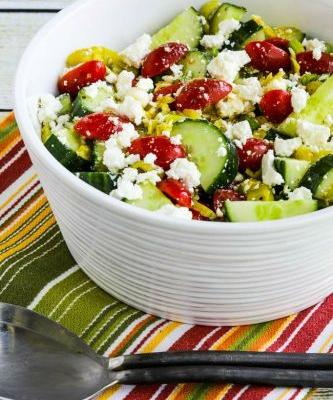 Spicy Tomato-Cucumber Salad with Peperoncini