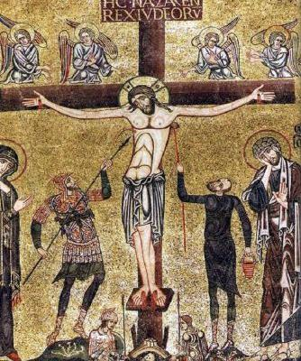 Burial Vault Mosaic of the Crucifixion