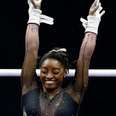Simone Biles Goes For Gold Eyeshadow At U.S. Championships