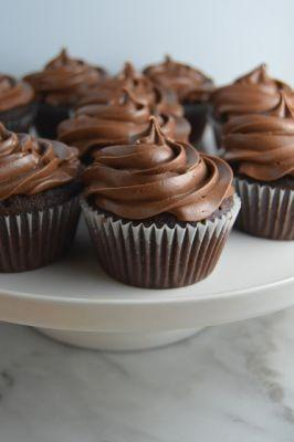 Mocha Cupcakes with Chocolate Frosting