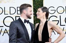 Justin Timberlake & Jessica Biel Go Trick-or-Treating in 'Lego' Themed Costumes