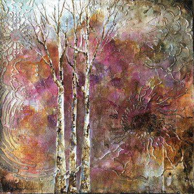 """Wonder"", Original Mixed Media Painting by Colorado Artist, Donna L. Martin"