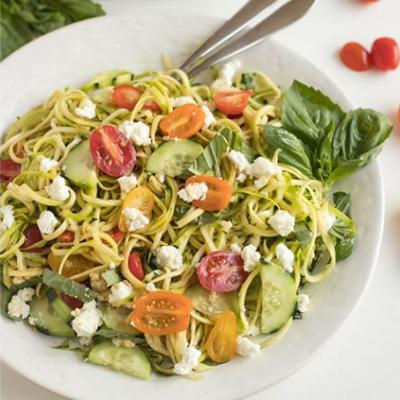Zesty Zoodle Salad with O Fig Balsamic Vinegar