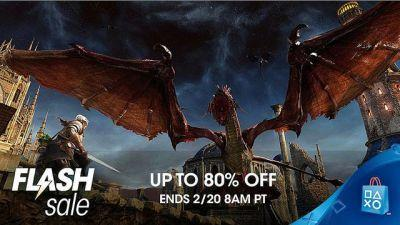 PlayStation Store Flash Sale Discounts Games Up to 80% Off