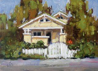 BUNGALOW, WHITE PICKET FENCE by TOM BROWN