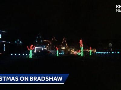 Christmas on Bradshaw lights up night in Overland Park