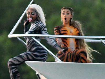 Cardi B Shows Off Her Curves In Tiger Body Paint During A Video Shoot In Miami: See Photos!