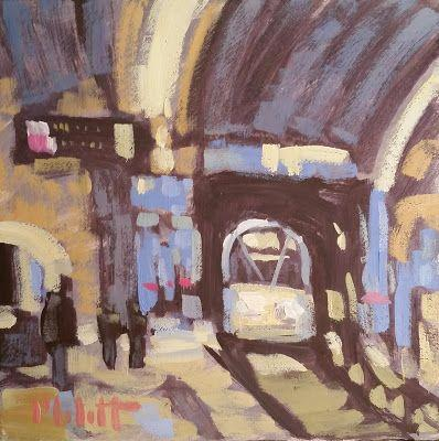 Train Station Contemporary Impressionism Studio Special continues Art Giveaway Heidi Malott