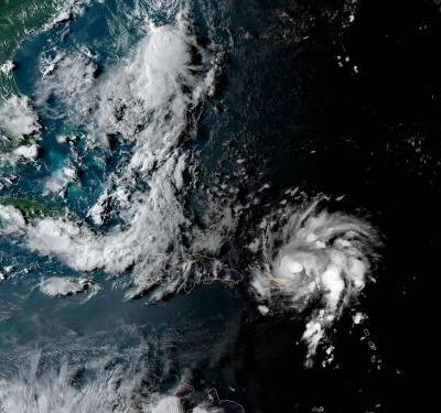 Images from space show Hurricane Dorian churning through the Caribbean