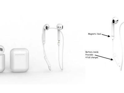 AirPods with wearable battery strap currently being crowdfunded, promises four full charges