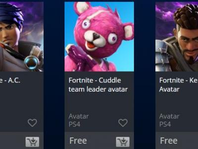 Get Eight Free Fortnite PSN Avatars on the PlayStation Store Right Now