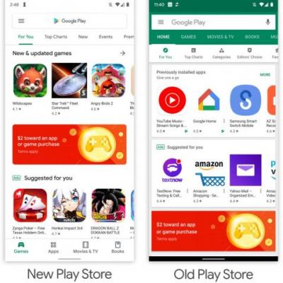 Google Play Store's blindingly white redesign starts rolling out