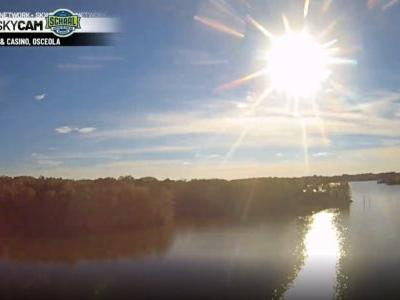 WATCH: Time-lapse of tonight's sunset from Osceola and West Des Moines