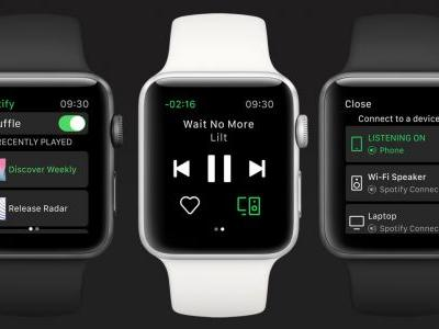 Spotify makes its official debut on the Apple Watch