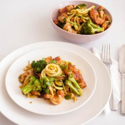 Chicken Broccoli Zucchini Stir Fry