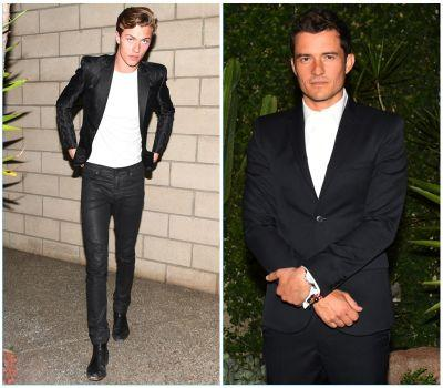 Orlando Bloom & Lucky Blue Smith Step Out in H&M Conscious Exclusive Collection
