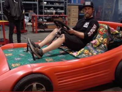 My Childhood Self is Dying for This Race Car Bed Turned Into a Go-Kart