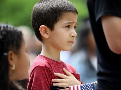 Children are being forced to recite the Pledge of Allegiance to a country that separated them from their parents