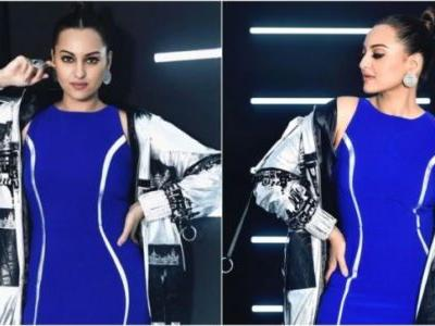 Sonakshi Sinha looks like magic in electric blue thigh-slit dress for a shoot. See pics