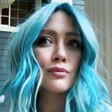 """Hilary Duff Dyed Her Hair Blue at 8 Months Pregnant 'Cause She's """"Gotta Have Fun Somehow"""""""