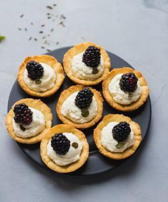 Mini Lavender Blackberry Tarts