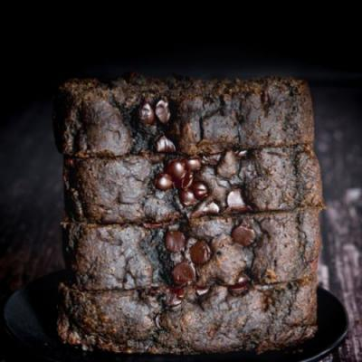 Chocolate Tahini Banana Bread