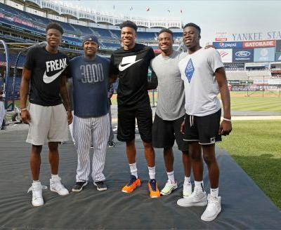 MVP Antentokounmpo gives baseball a shot at Yankee Stadium