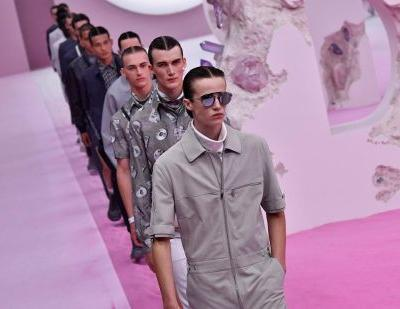 Bright colors and tailored suits march on the Dior and Berluti men's runways