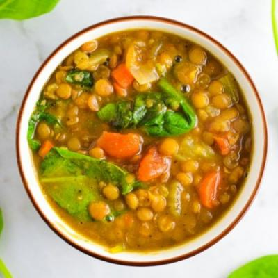 Vegan Instant Pot Lentil Soup