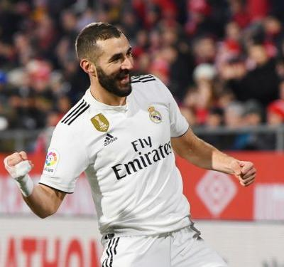 Girona 1 Real Madrid 3 : Benzema brace helps secure semi-final spot