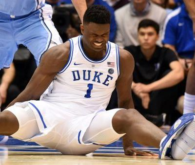 Duke's Zion Williamson to sit out game against Syracuse with knee injury