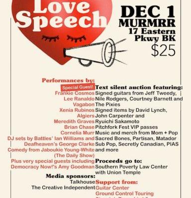 "Frankie Cosmos, Vagabon, & More Playing ""Love Speech"" Benefit Concert At Brooklyn's Murmrr Theatre"